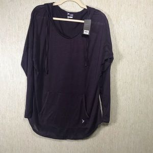 NWT OLD NAVY ACTIVE Sheer Hooded Pullover, size XL